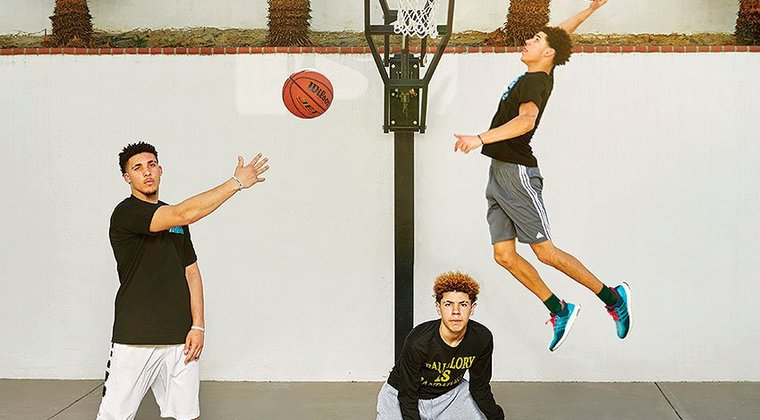 Lonzo Ball's Baby Brothers Get Buckets Too