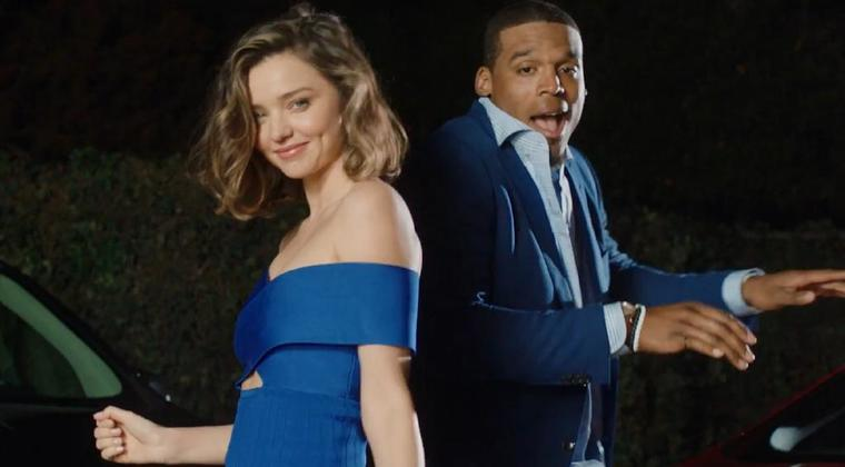 Cam Newton and Supermodel Miranda Kerr Do Buick Super Bowl Commercial