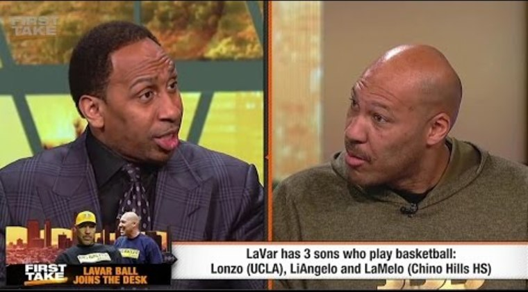 Stephen A. Smith And LaVar Ball Face Off On First Take